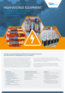 High-Voltage Equipment by Softing