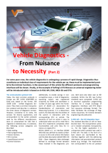 Vehicle Diagnostics - From Nuisance to Necessity (Part 2)