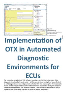 Implementation of OTX in Automated Diagnostic Environments for ECUs