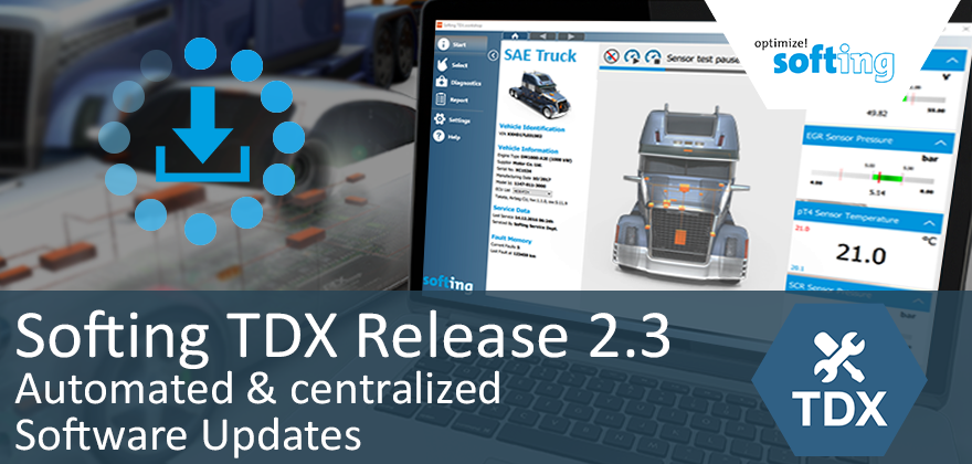 [Translate to Deutsch:] Softing TDX 2.3: the latest diagnostic software automatically on the PC
