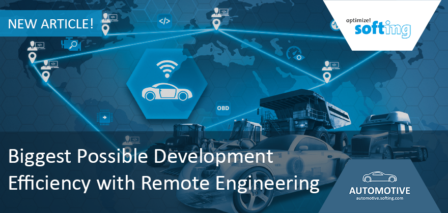 [Translate to Deutsch:] Article in ATZelectronics 10/2019: Biggest Possible Development Efficiency with Remote Engineering
