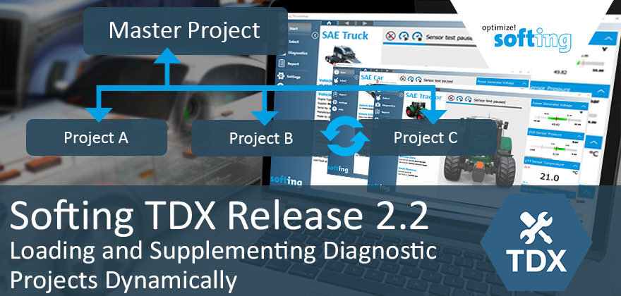 NEW: Softing TDX Release 2.2 Enables the Dynamic Loading & Supplementing of Diagnostic Projects