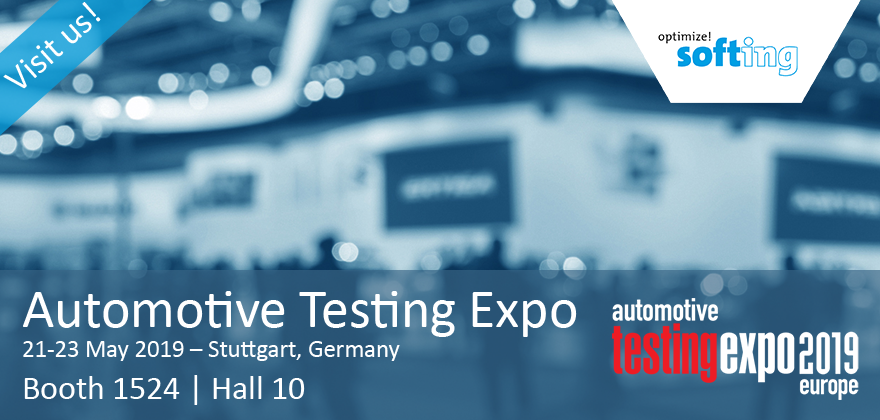 Visit Softing at Automotive Testing Expo 2019