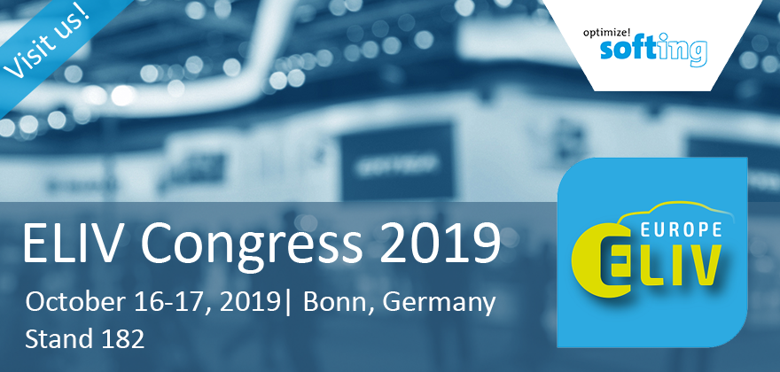 Visit Softing at the ELIV Congress 2019!