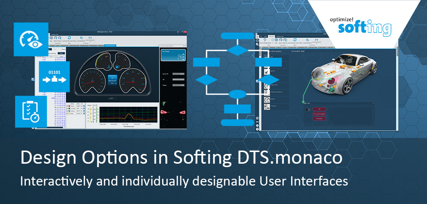 Design options in Softing DTS.monaco