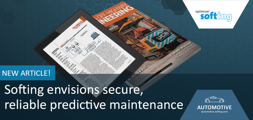 TOHE Article 08/2020 Softing envisions secure, reliable predictive maintenance