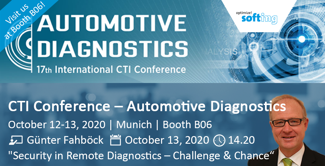Visit Softing at the CTI Conference Automotive Diagnostics 2020