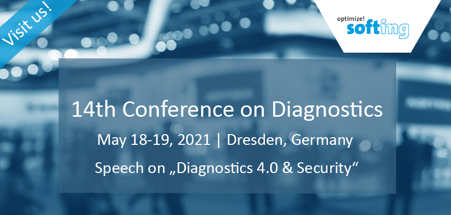 [Translate to Deutsch:] Softing Automotive at the 14th Conference on Diagnostics 2020 in Dresden