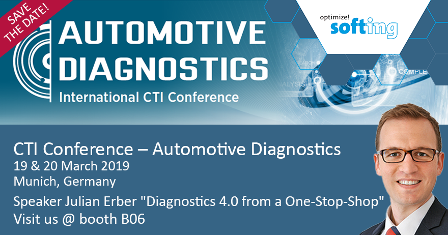 [Translate to Deutsch:] Softing @ CTI Conference Automotive Diagnostics 2019