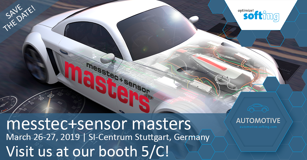 [Translate to Deutsch:] Visit Softing at messtec+sensor masters 2019