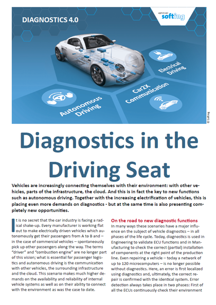 Diagnostics 4.0 - Diagnostics in the Driving Seat