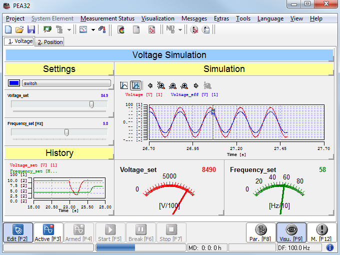 Measuring software pea powerful data acquisition Online visualizer