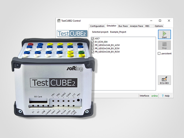 TestCUBE - Configurable simulation of ECU diagnostics.